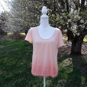 Free People Ombre Beaded Tshirt